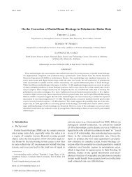 On the Correction of Partial Beam Blockage in Polarimetric Radar Data