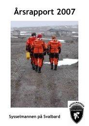 Årsrapport 2007 - Sysselmannen