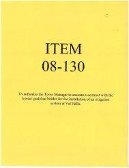 ITEM 08-130 - Town of Cumberland
