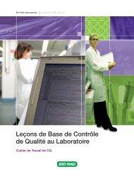Leçons de Base de Contrôle de Qualité au Laboratoire - QCNet