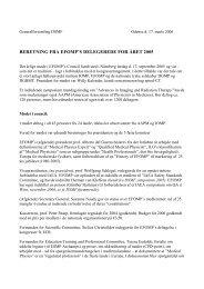 Beretning fra delegerede til EFOMP og IOMP - Dansk Selskab for ...