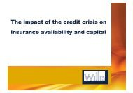 The impact of the credit crisis on insurance availability and capital
