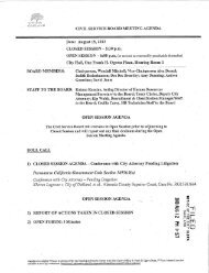 Agenda for August 15, 2013 Civil Service Board ... - City of Oakland