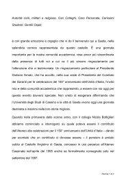 Scarica il Discorso Rettore per Cerimonia Gaeta - Università degli ...