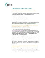 Download our Website Quick Start Guide - Cdio