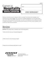 Hospitality - Learning Zone Express