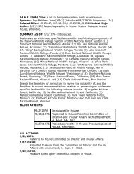 94 Bill Tracking H.R. 15446 - Wilderness.net