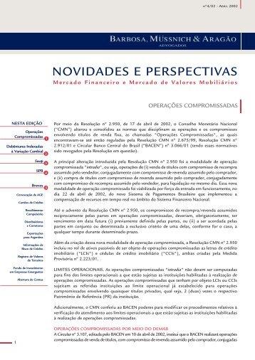 Mercado Financeiro e de Valores Mobiliários Abril 2002