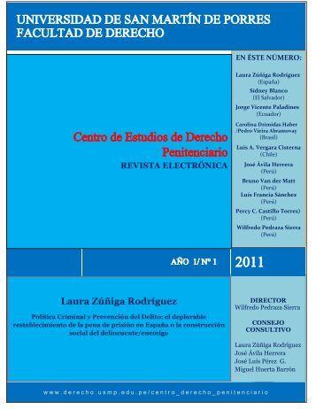 Prof. Laura Zúñiga Rodríguez - Facultad de Derecho - Universidad ...