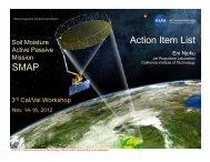 7. Action Item List (Eni Njoku, JPL) - SMAP