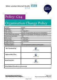 C24 - Change Management Policy - West London Mental Health ...