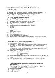 Anleitung zum Spielberichtsbogen - VMV