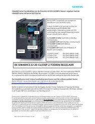 IBH G120 CU230P v4.4 Starter V21 - Industry - Siemens Nederland