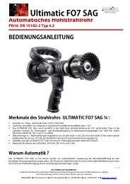 Bedienungsanleitung Ultimatic FO7 3/4 SAG ... - Leader GmbH