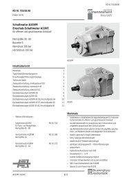 Schaltmotor A10VM Einschub-Schaltmotor A10VE - Group VH A/S