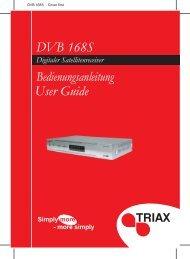 DVB 168S - Cover first - Triax