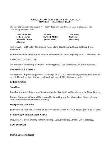 December 18, 2011 Size - Chicago Contract Bridge Association