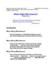 What's Right With America - Christian Hope Church Home