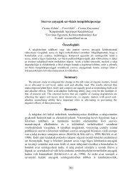381 Szerves anyagok sav-bázis tompítóképessége Összefoglaló ...