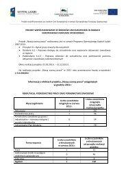 (Informacja o efektach projektu NSzP - grudzień 2011)