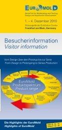 Euromold - Besucherinformatin   Visitor Information 2010 ... - Demat