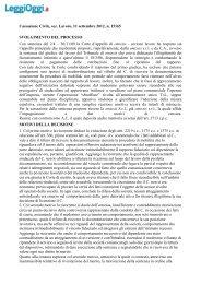 Cassazione Civile, sez. Lavoro, 11 settembre 2012, n ... - LeggiOggi