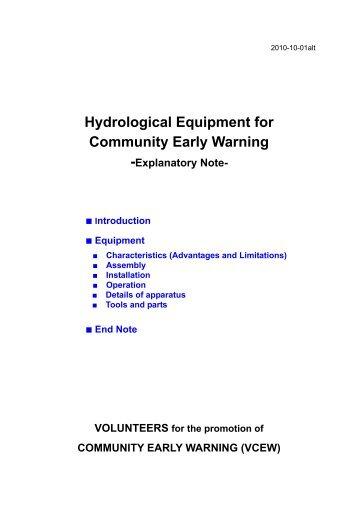 Hydrological Equipment for Community Early Warning - International ...