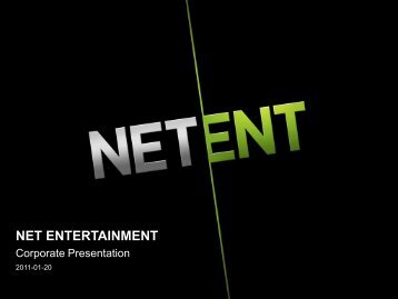 Online Gaming - Net Entertainment