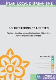 Notice explicative de synthèse révision simplifiée secteur ... - Grenoble