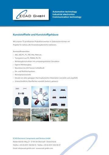 Kunststoffteile und Kunststoffgehäuse