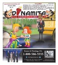 JULIO, 2012 Ed. 9 Titulares - Dinamita Magazine
