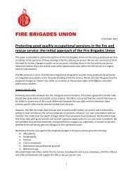 initial submission - Fire Brigades Union