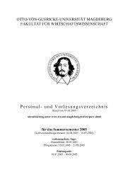 Sommersemester 2005 - Fakultät für Wirtschaftswissenschaft - Otto ...