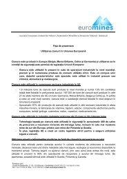 Utilizarea cianurilor in UE - CSN Meridian