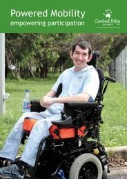 Powered Mobility Manual - Cerebral Palsy Alliance