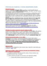 Informace pro studenty 3. ročníku bakalářského studia - FEI VŠB