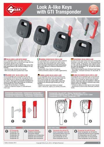 Look A-like Keys with GTI Transponder - Kaba do Brasil LTDA