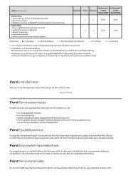 Ford Händlernetz Ford Servicestandards Ford Qualitätsservice Ford ...