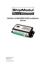 MiniPlex-41USB NMEA-0183 multiplexer Manual - Seatech