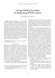 A Frugal Bidding Procedure for Replicating WWW ... - Samee U. Khan