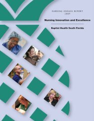 Nursing Innovation and Excellence - Baptist Health South Florida