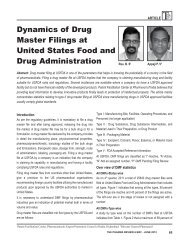 Dynamics of Drug Master Filings at USFDA - pharmaceuticals export ...