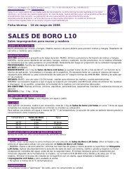 SALES DE BORO L10 - Solas