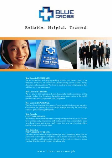 Products & Services - Blue Cross