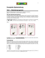 Komplette Spielanleitung Teil 1 – Notenlernprogramm