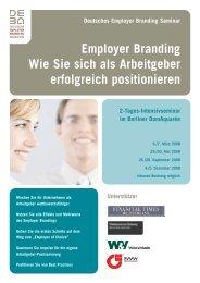 Wie Sie sich als Arbeitgeber erfolgreich positionieren - Deutsche ...