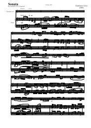 Sonata - Clarinetinstitute.com