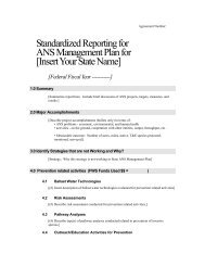 Standardized Reporting for ANS Management Plan for - Aquatic ...