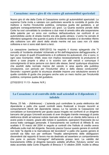 News Giuridiche - Ospol