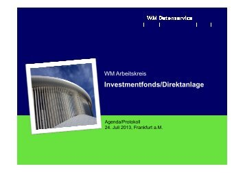 Investmentfonds/Direktanlage